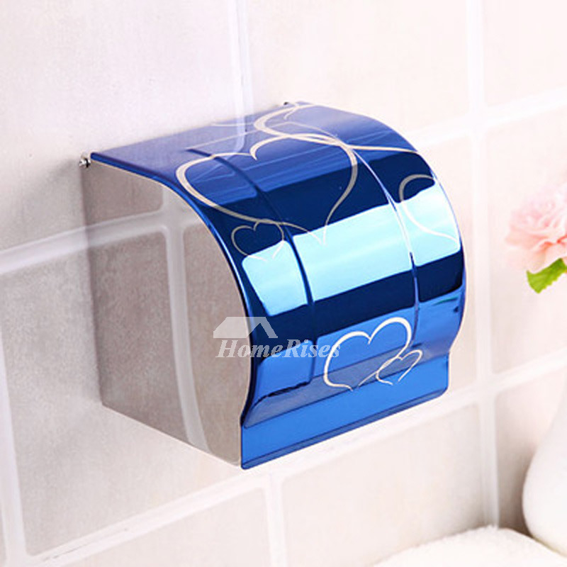 Cheap Toilet Paper Holder Wall Mount Stainless Steel Black Gold Blue Blue And White Porcelain