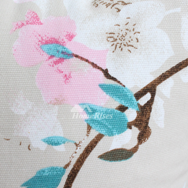 Country Pink And White Floral Cotton Throw Pillows For Couch