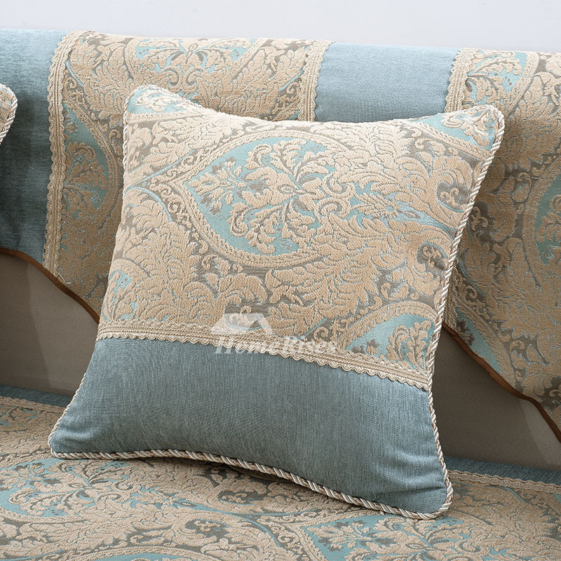 Country Blue Throw Pillows : Country Floral Blue Velvet Throw Pillows For Couch