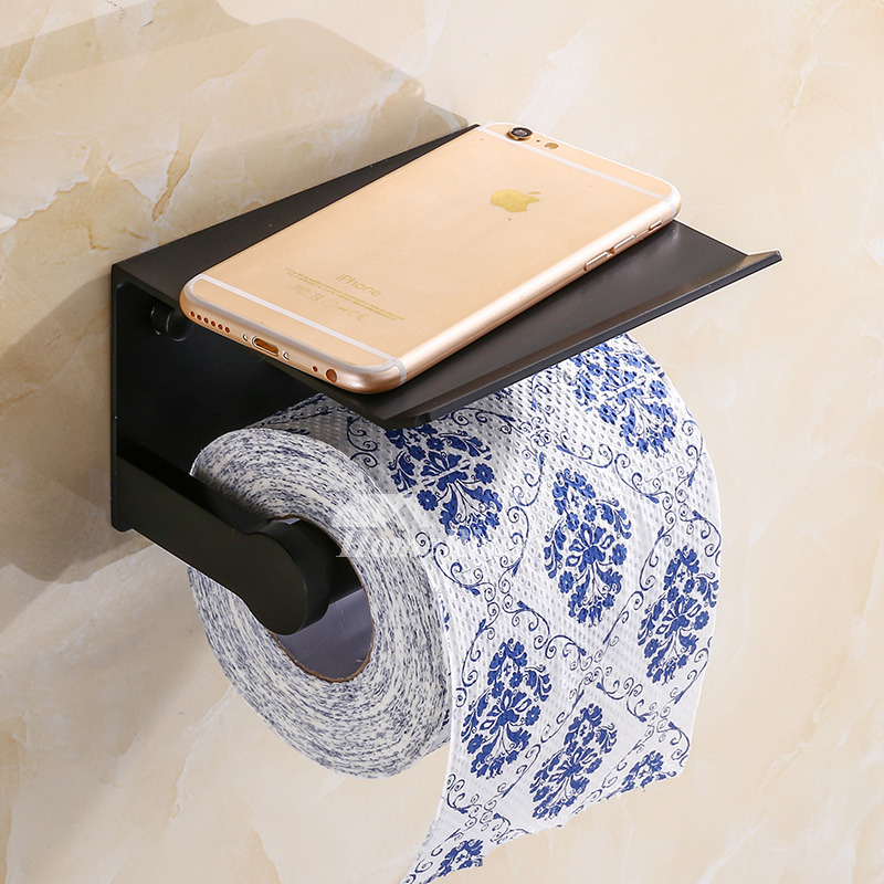 Black Painting Wall Mount Unique Toilet Paper Holders