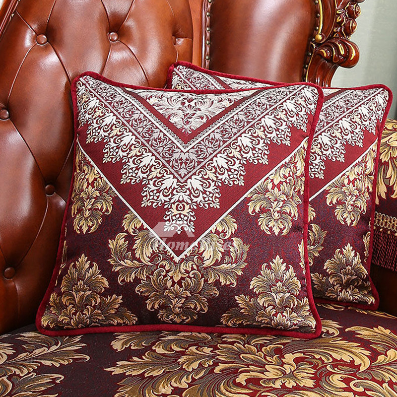 Fine Luxury Vintage Floral Pp Cotton Burgundy Throw Pillows Pillow Core Not Included Creativecarmelina Interior Chair Design Creativecarmelinacom