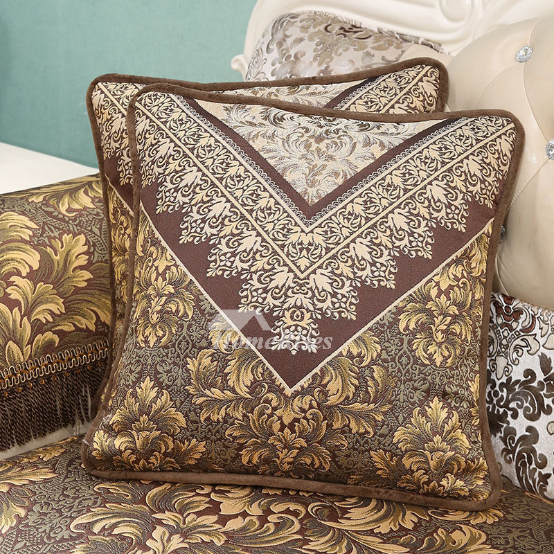 luxury Vintage Floral Best PP Cotton Brown Throw Pillows