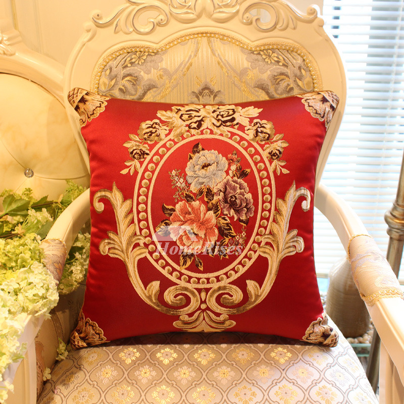 Luxury Vintage Red Fl Best Throw Pillows For Couch Pillow Core Not Included