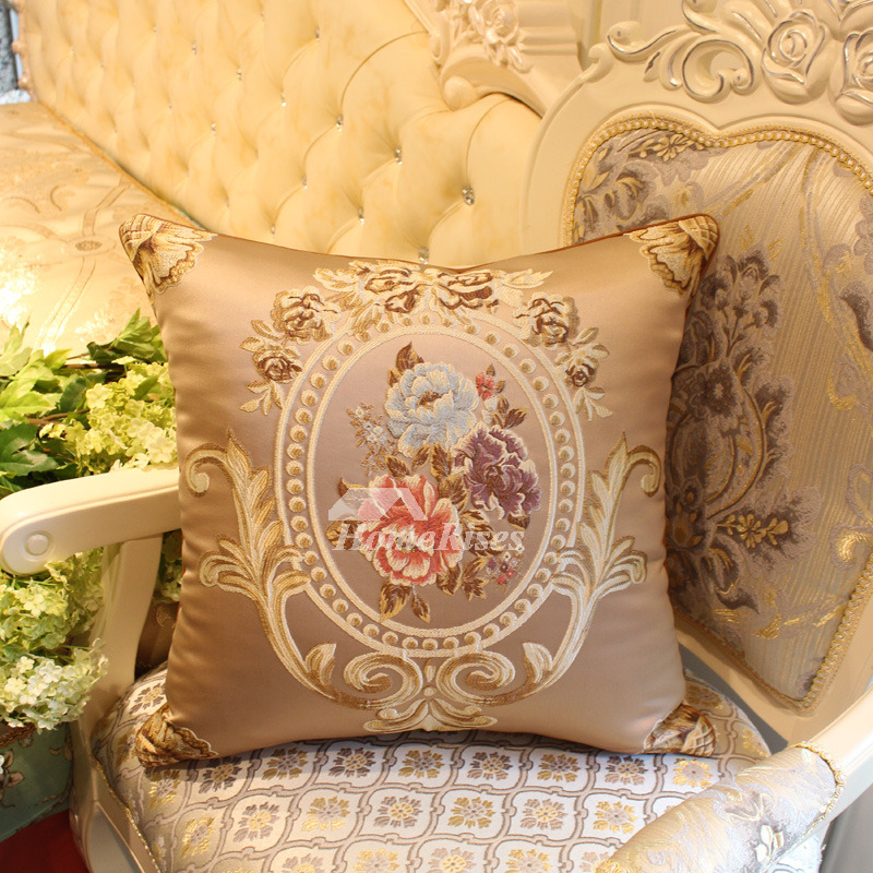 luxury Vintage Brown Floral Couch Best Throw Pillows