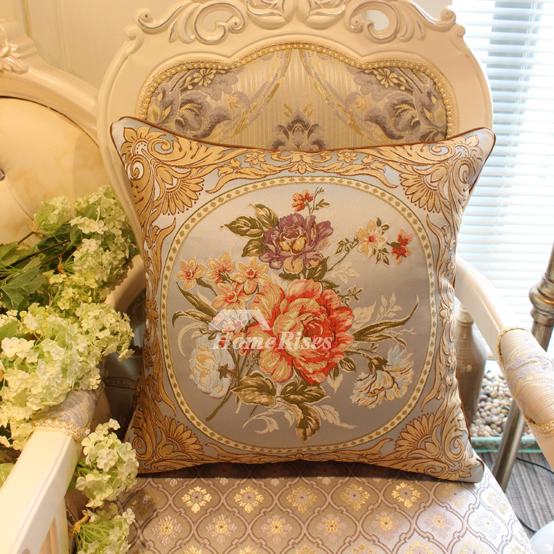 Luxury Vintage Blue Fl Best Throw Pillows For Couch Pillow Core Not Included