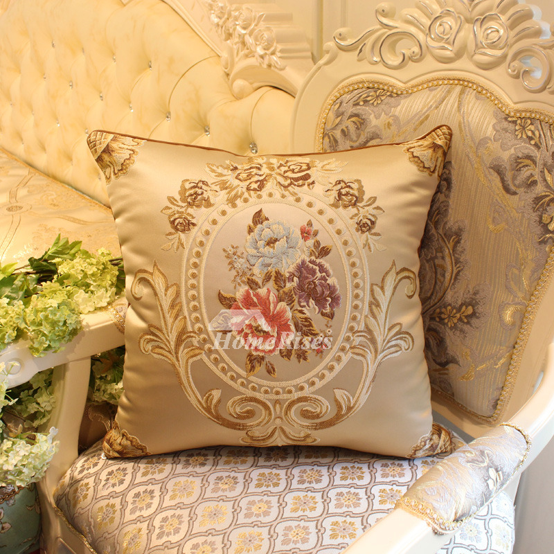 luxury Vintage Gold Floral Best Throw Pillows For Couch