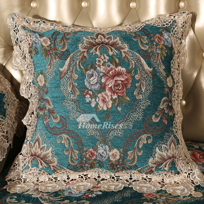 Luxury Vintage Fl Best Teal Throw Pillows For Couch Pillow Core Not Included