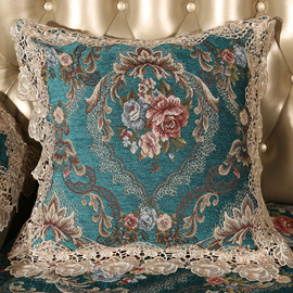 luxury Vintage Floral Best Teal Throw Pillows For Couch