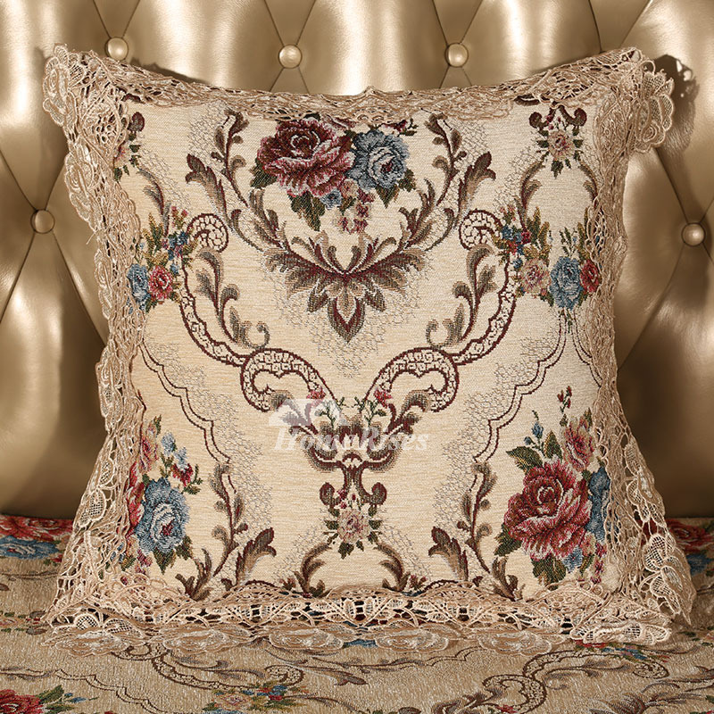 Vintage Luxury Floral Pp Cotton Gold Best Throw Pillows