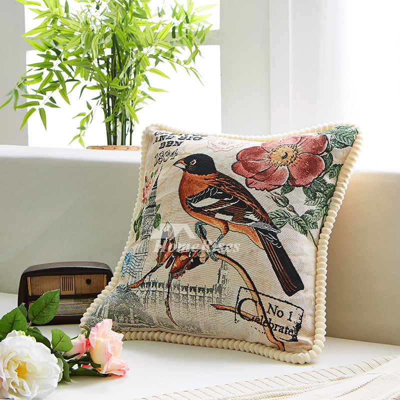 Country Colorful Animal Linen Best Throw Pillows For Couch