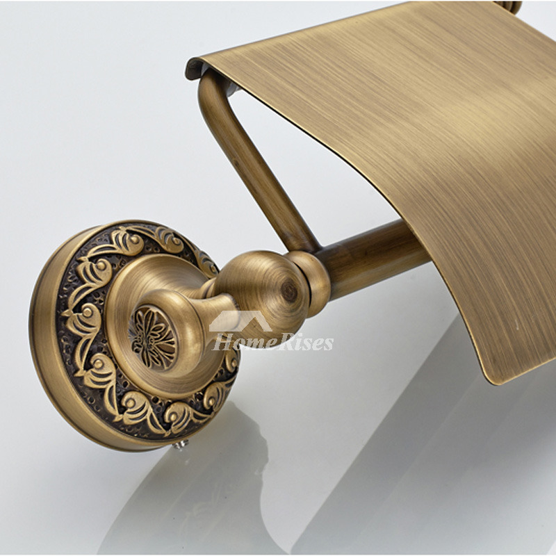 Toilet Paper Holder Brass Wall Mount Carved Professional
