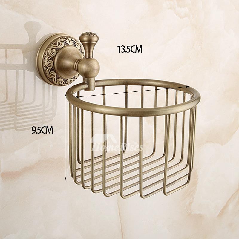 European Wall Mount Antique Gold Toilet Paper Holder
