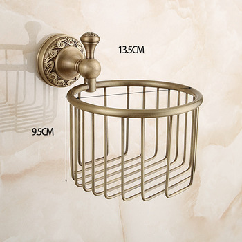 European Wall Mount Antique Gold Toilet Paper Holder