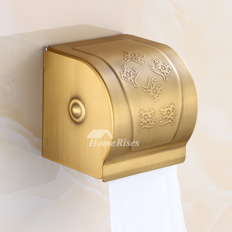 Carved Wall Mount Antique Brass Vintage Toilet Paper Holders