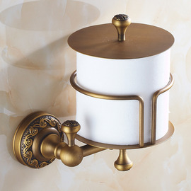 Toilet Paper Holder Antique Brass Wall Mount For Bathroom