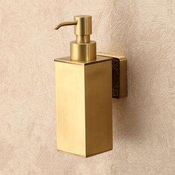 Br Soap Dispenser Polished Carved Wall Mount Gold 147 72 88 99
