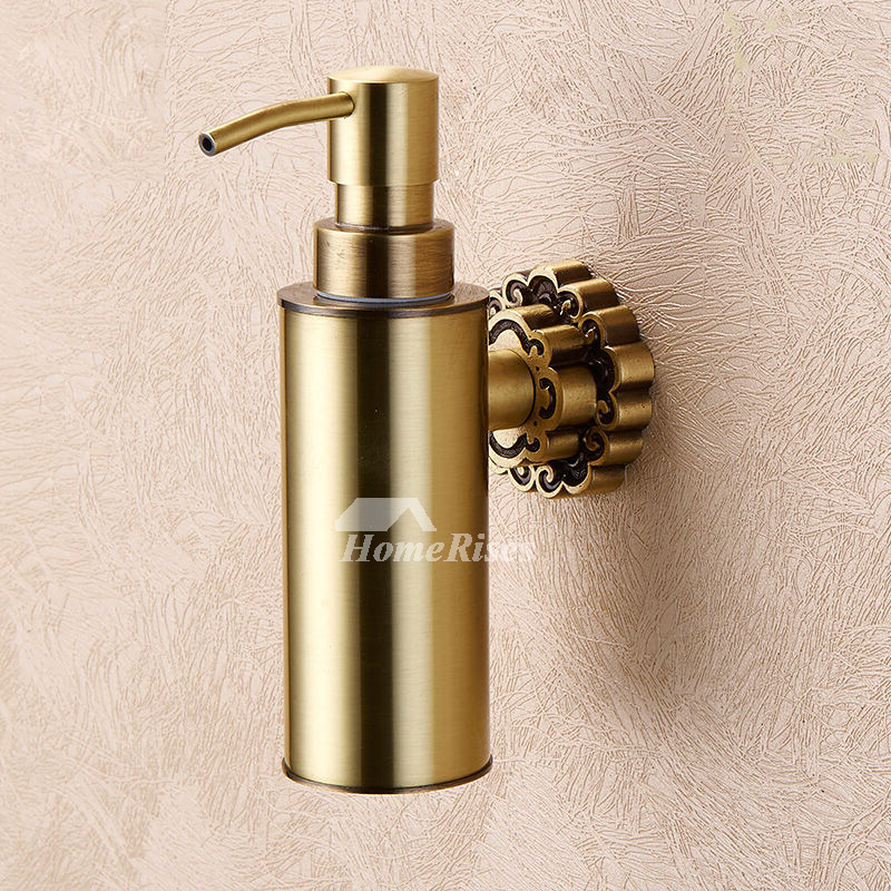 Ltj Antique Brass Soap Dispenser Wall Mount Polished