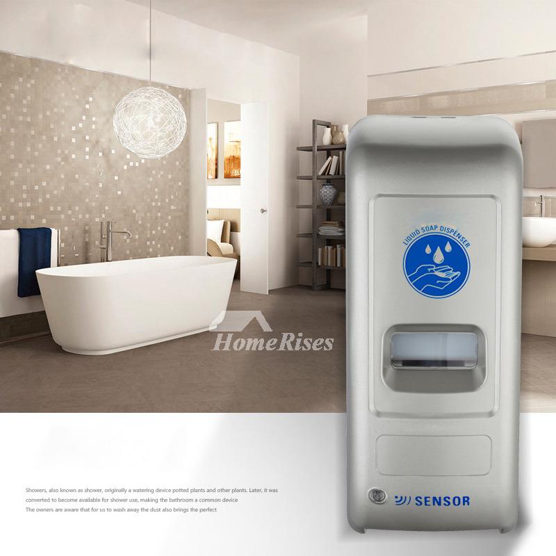 Black White Silver Gray Touchless Hand Soap Dispenser