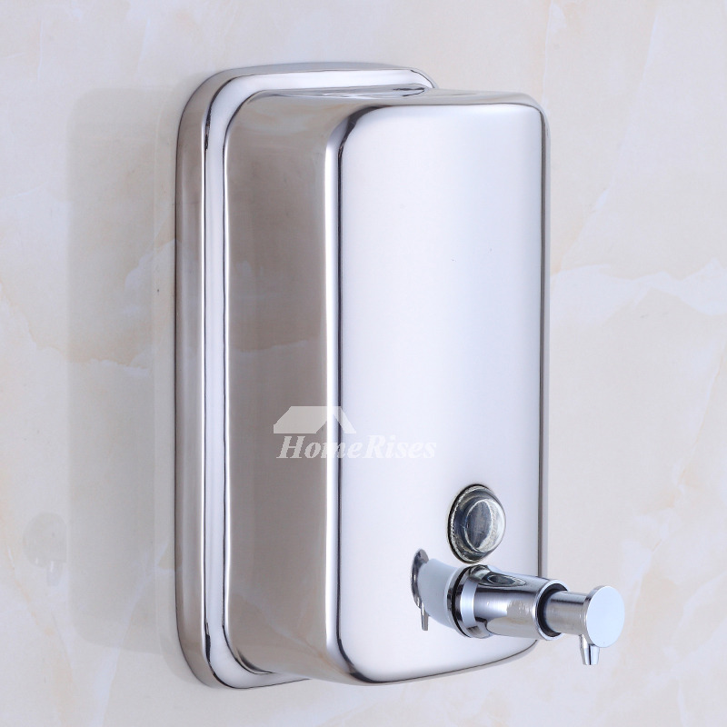 Elegant Brushed Stainless Steel Soap Dispenser Freshomedaily