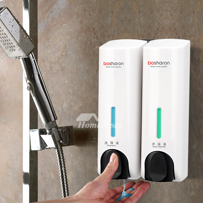 Double/Single Manual Wall Mounted Decorative Soap Dispenser