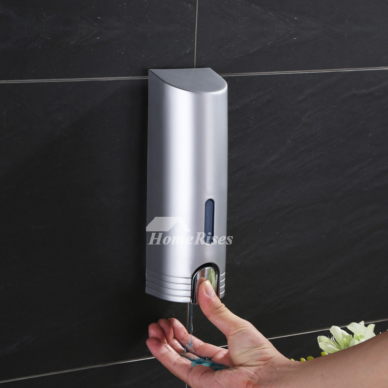 400ml Silver Soap Dispenser Wall Mounted Abs