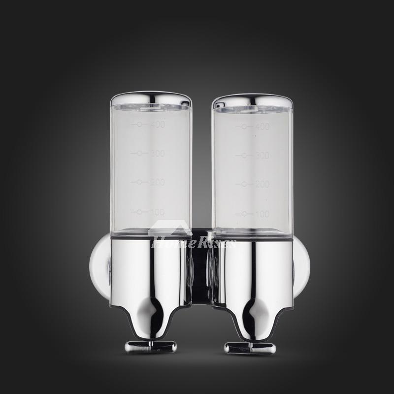Double Soap Dispenser Champagne White Transparent