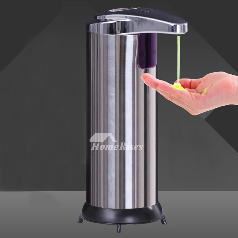 Automatic Soap Dispensers Battery Stainless Steel For Kitchen