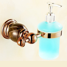 Marble Soap Dispenser Glass Wall Mount Manual Type