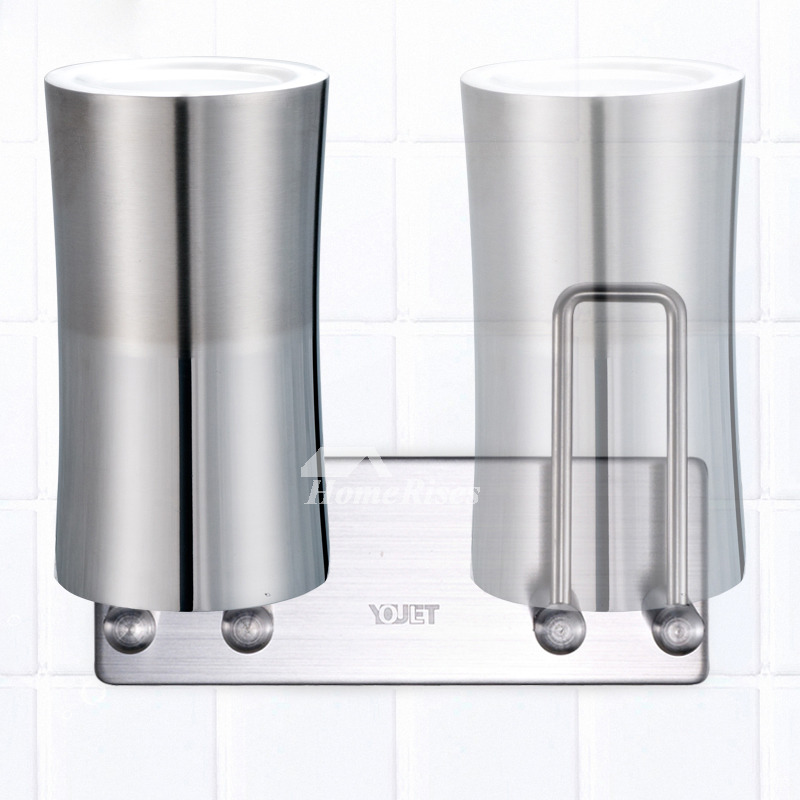 Stainless Steel Toothbrush Holder Wall Mount For Bathroom