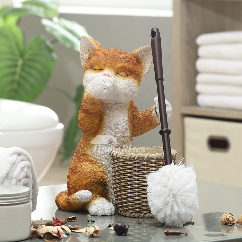 Cat Shaped Toilet Brush Holder