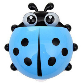 Chic Ladybird Shaped Suction Cup Kids Toothbrush Holder ABS
