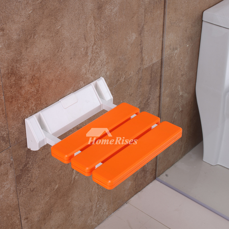 Wall Mounted Folding Shower Seat ABS Plastic Square Shaped