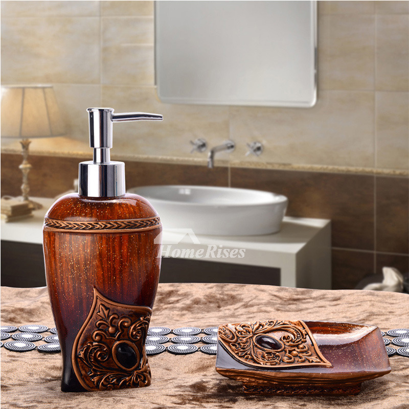 Exotic 2 piece cheap bathroom accessories sets resin for Affordable bathroom accessories