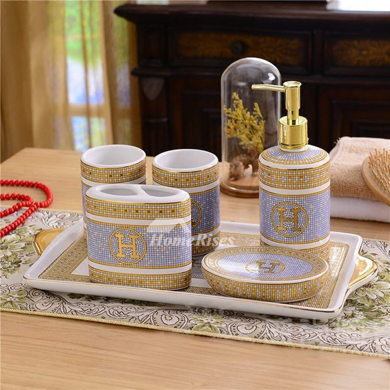 New Classic 5 Piece Bathroom Accessory Set Without Pallet