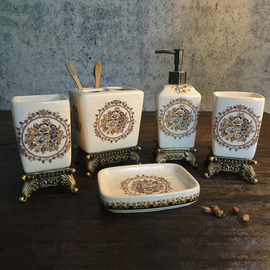 exquisite 5piece enamel ceramic bathroom accessories sets