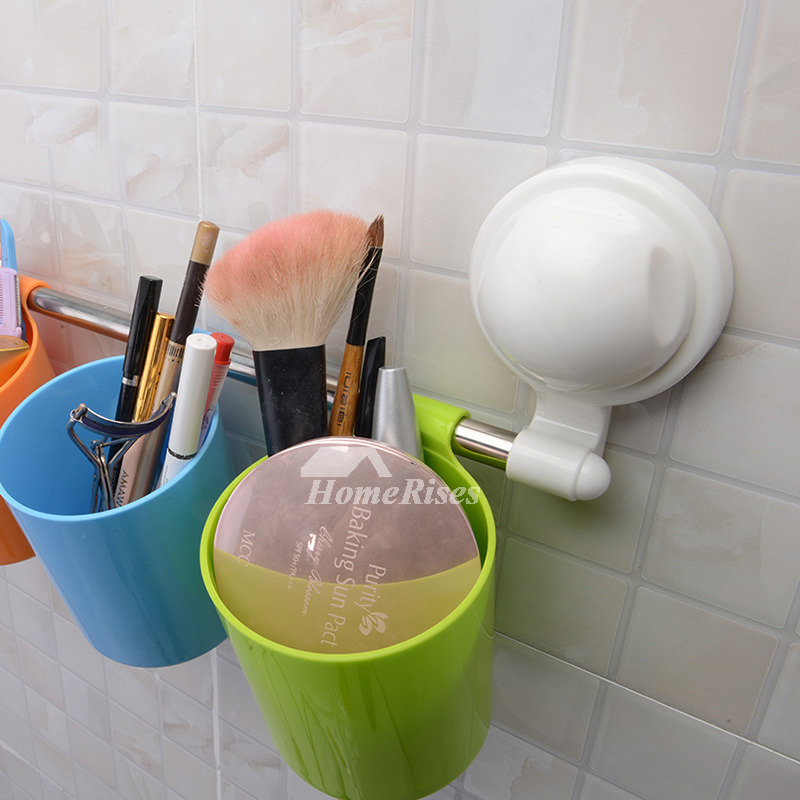 suction cup colorful cup hanging toothbrush holder. Black Bedroom Furniture Sets. Home Design Ideas