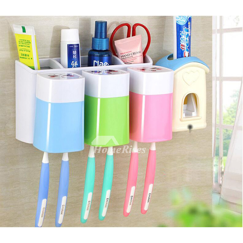 Cute toothbrush holder suction for bathroom for Cute bath accessories