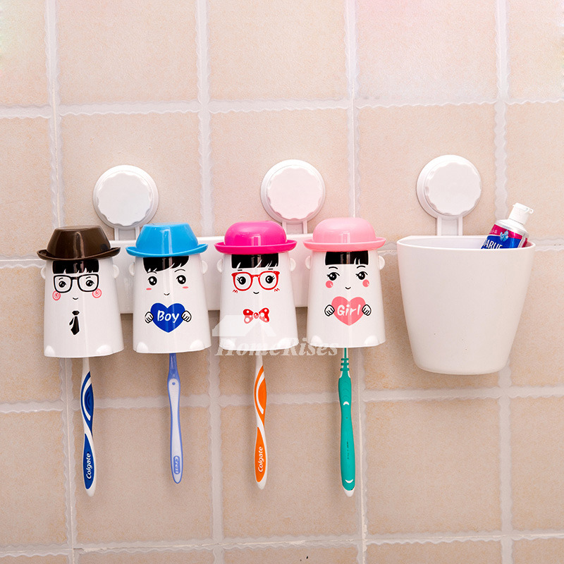 decorative suction cup cute toothbrush holder for bathroom. Black Bedroom Furniture Sets. Home Design Ideas