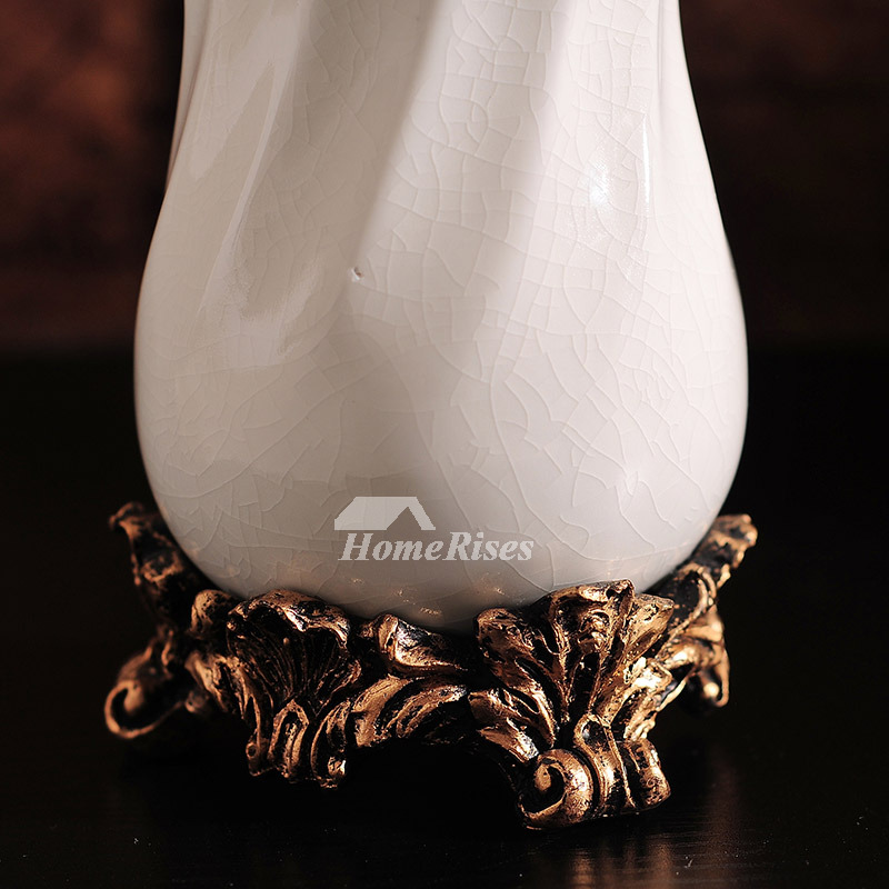 High End Crack Ceramic Bathroom Accessories Set In White