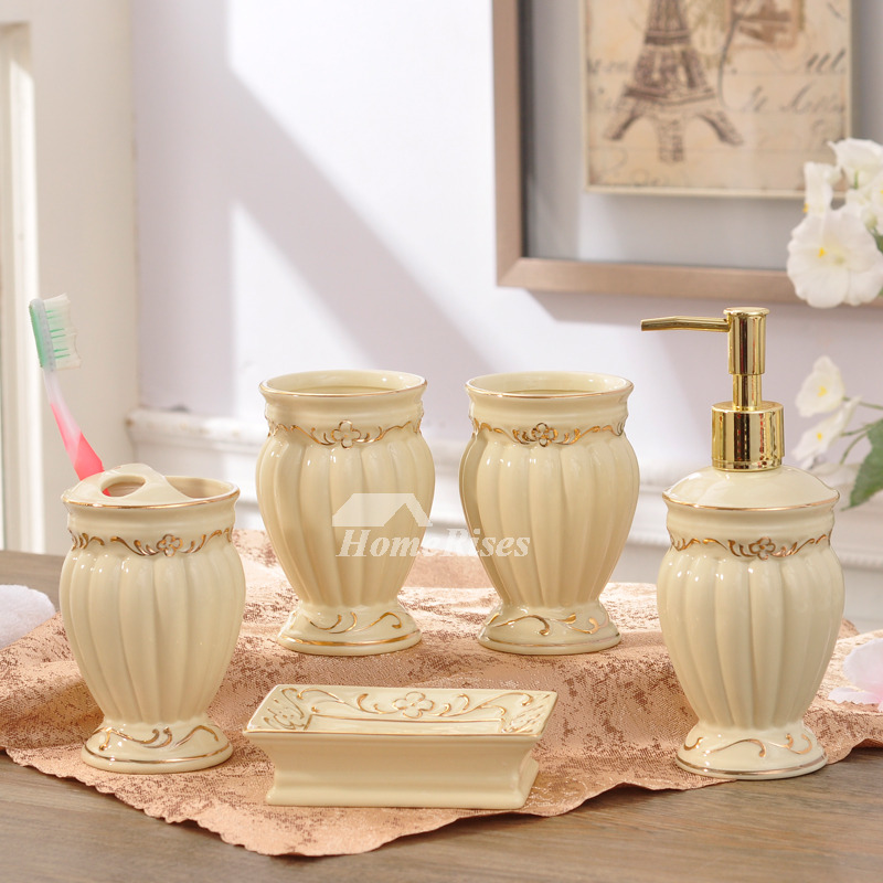 5 Piece Ceramic Bathroom Accessories Sets