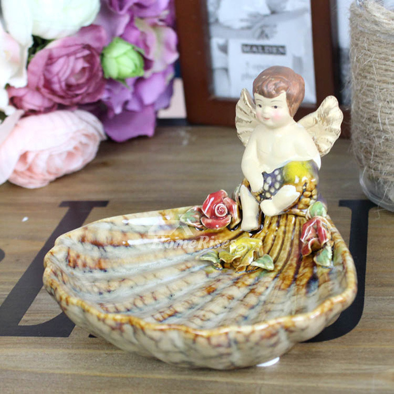Decorative Soap Dish Angle Shaped Free Standing Ceramic