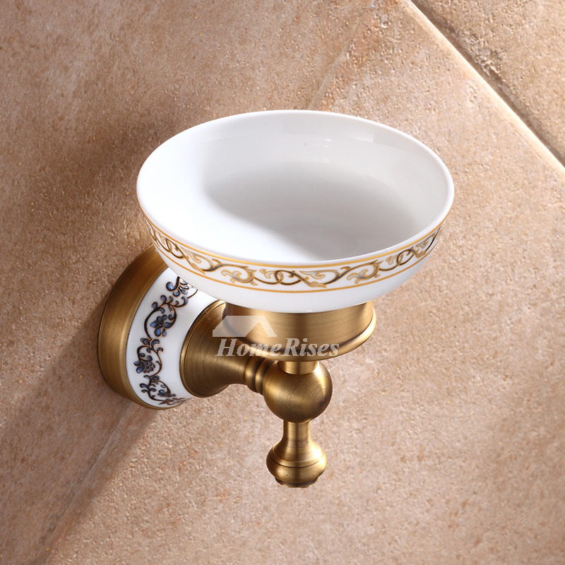 Designer Wall Mounted Brass Soap Dish For Bathroom