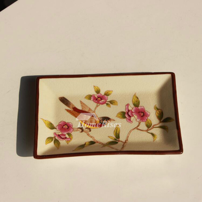 Asian Porcelain Soap Dish Enamel Ling Rectangular Shaped