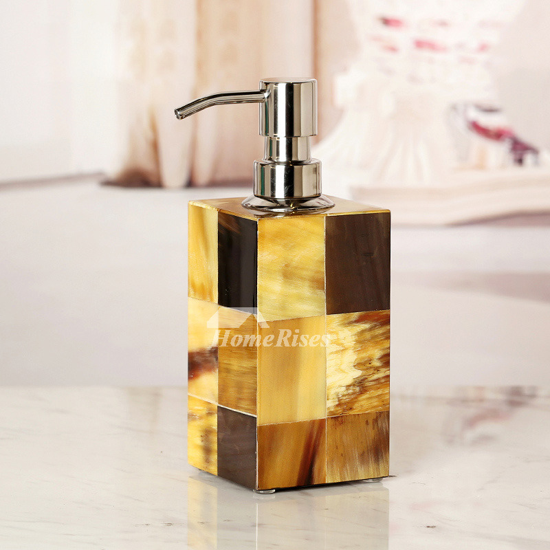 Creative Marble Soap Dispenser Wooden Liquid