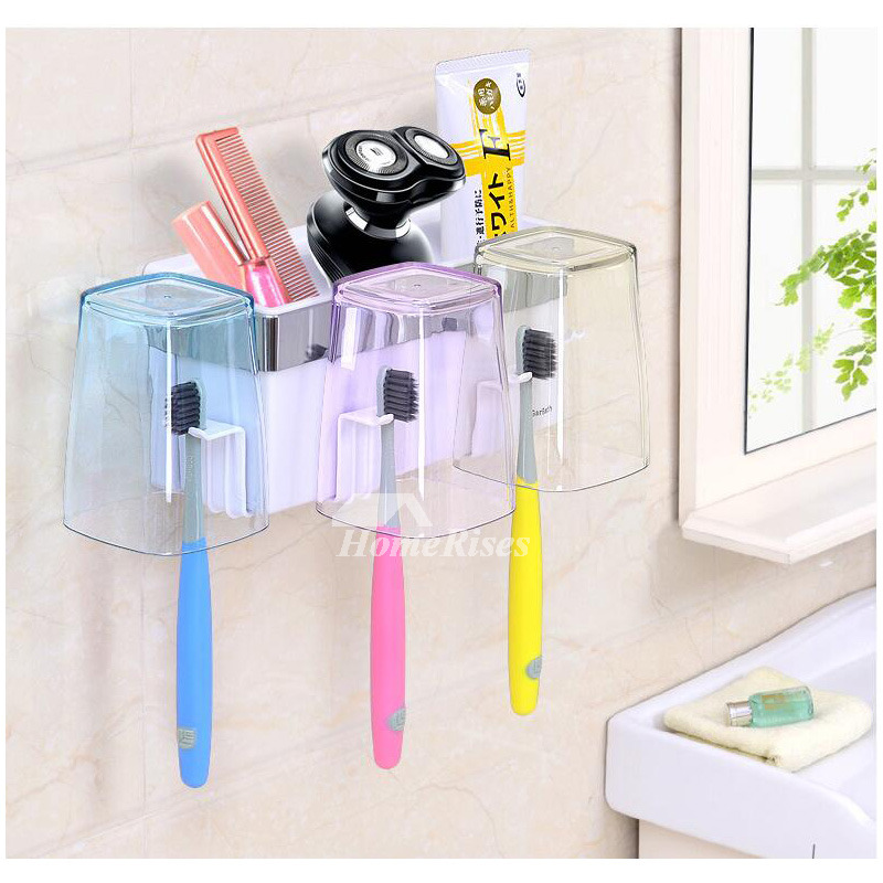 Good Suction Cup Modern Toothbrush Holder For Bathroom