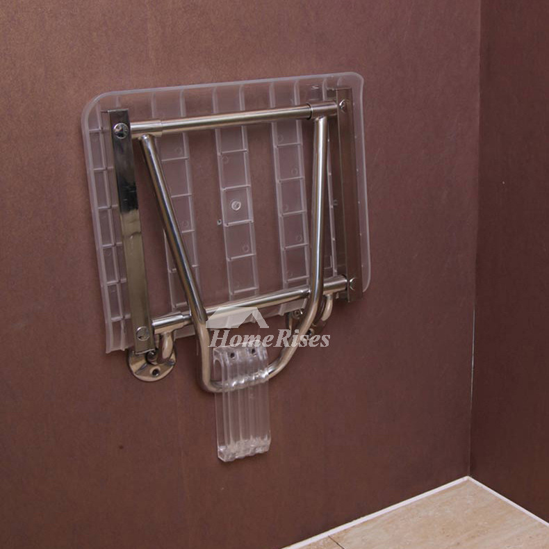 Shower Folding Seat Wall Mounted Transparent Wall Mounted