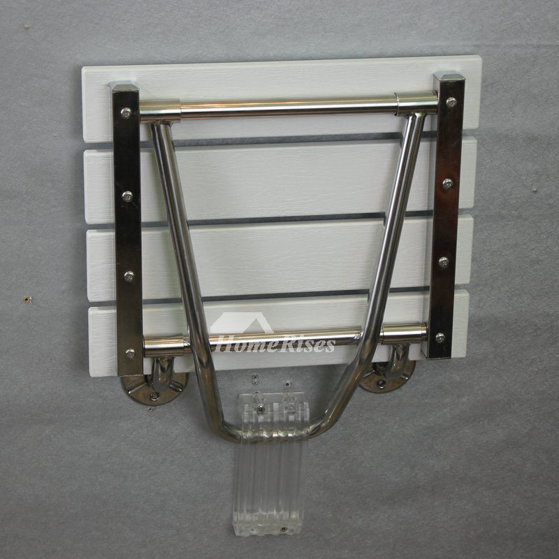 Shower Folding Seat Wall Mounted Transparent Wall Mounted