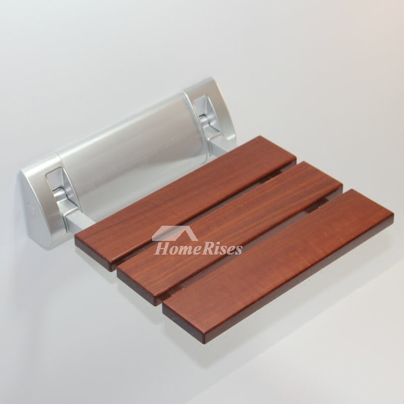 Wooden Shower Seat Aluminum Alloy Base Painting