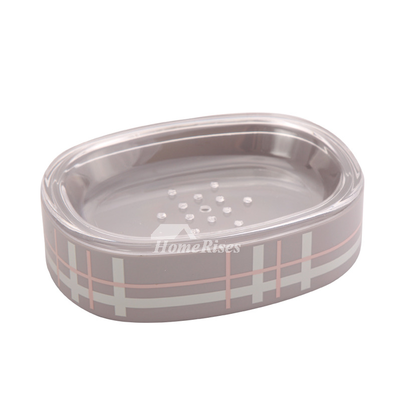 Modern Acrylic Oval Shaped Soap Dish Holder