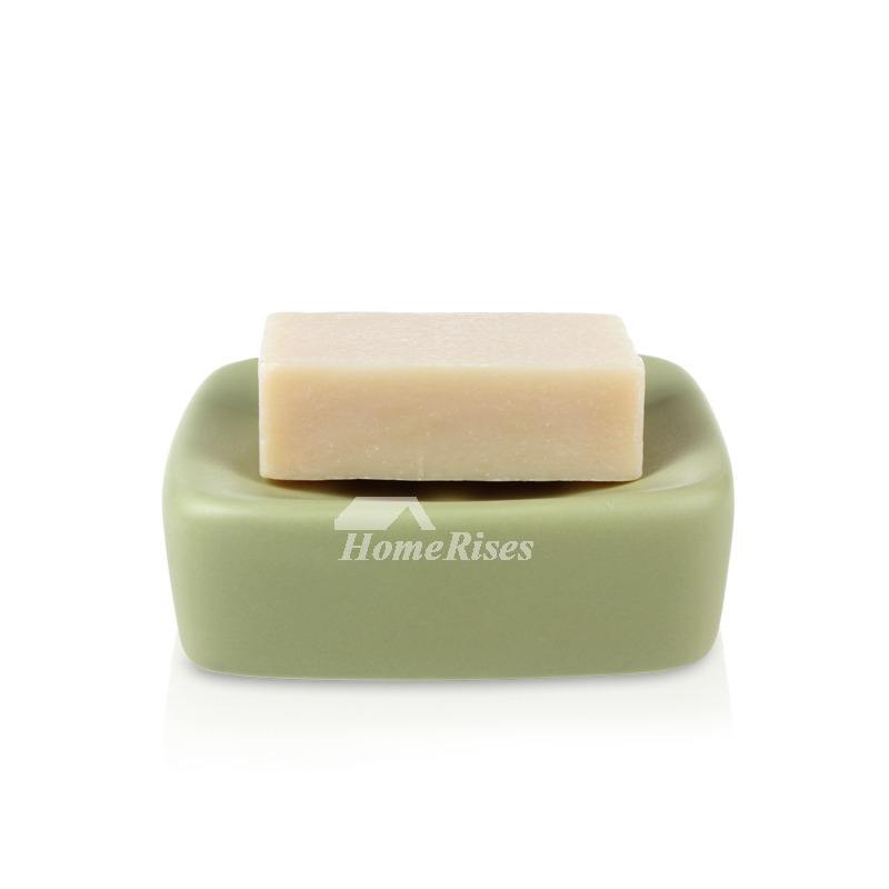 Ceramic Soap Dishes Square Shaped Free Standing